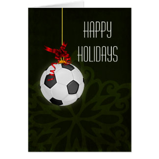 for a soccer player Christmas Cards