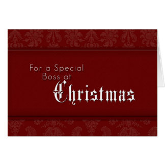 For a Special Boss at Christmas Greeting Card
