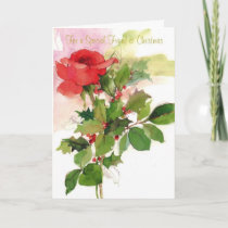 For a Special Friend at Christmas Holiday Card