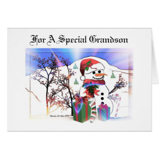 For A Special Grandson Greeting Card