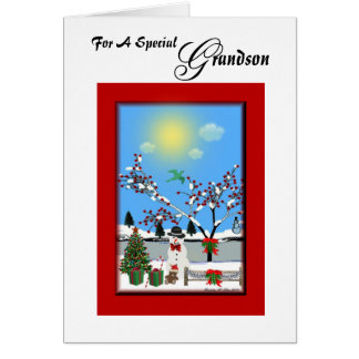 For A Special Grandson Greeting Cards