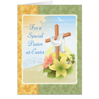 For a Special Pastor at Easter: Easter Card
