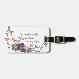 For a Sweetheart Bag Tag