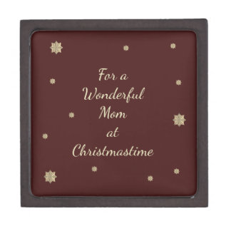 For a Wonderful Mom at Christmastime Gift Box
