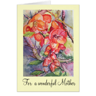 for a wonderful mother Card