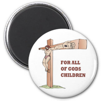 For All Gods Children 2 Inch Round Magnet