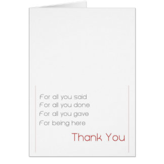 for all - thank you card