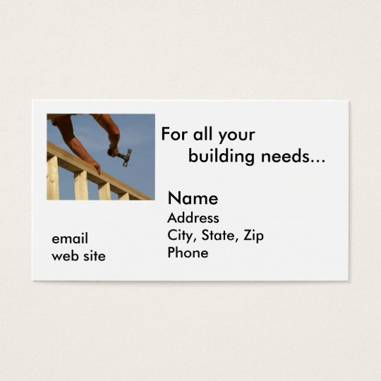 For all your building needs... business card