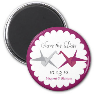For Allison: Origami Cranes Wedding Save the Date Magnet