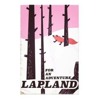For an adventure Lapland vintage poster Stationery