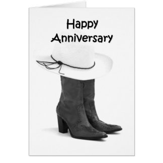 FOR ANY ANNIVERSARY-MAKE IT COUNTRY WESTERN WISHES GREETING CARD