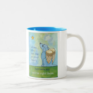 For anyone who has lost a beloved companion... Two-Tone coffee mug