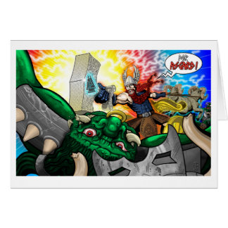For Asgard! - Greeting Card