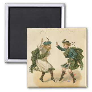 For Auld Lang Syne - A Right Merry Christmas' 2 Inch Square Magnet