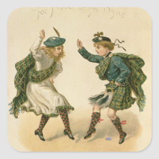 For Auld Lang Syne - A Right Merry Christmas' Stickers