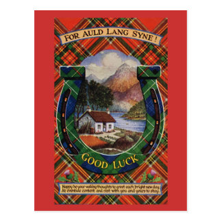 For Auld Lang Syne, Good Luck Postcard