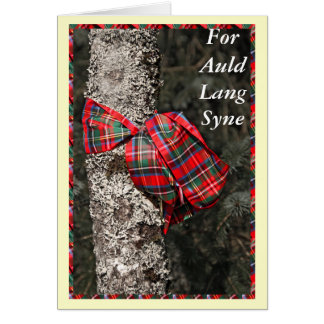 For Auld Lang Syne Scottish Happy New Year Card