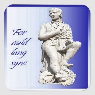 For Auld Lang Syne Square Sticker