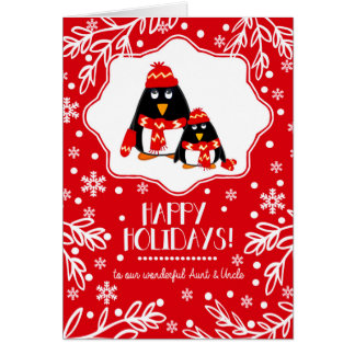For Aunt and Uncle at Christmas Greeting Cards