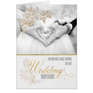 Wedding Gift For Uncle : for Aunt and Uncle Classic Wedding Anniversary Card