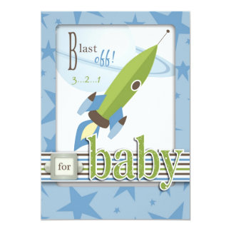 "For Baby Boy Card 2 5"" X 7"" Invitation Card"