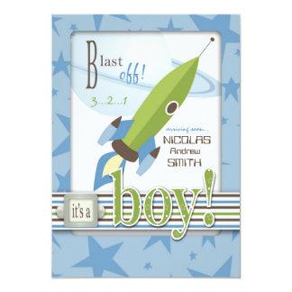 For Baby Boy Invitation Card