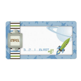 For Baby Boy Name Tag Shipping Labels