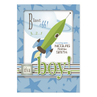 For Baby Boy Reminder Notecard Business Card