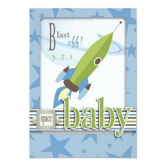 "For Baby Boy TY Card 2 5"" X 7"" Invitation Card"