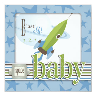 """For Baby Boy TY Square 5.25"""" Square Invitation Card"""