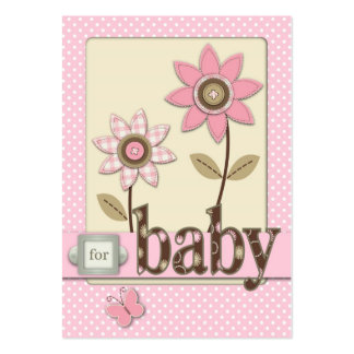 For Baby Girl Reminder Card Business Card Template