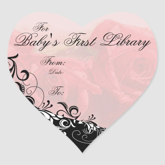 """For Baby's First Library"" Book Plate - Red"