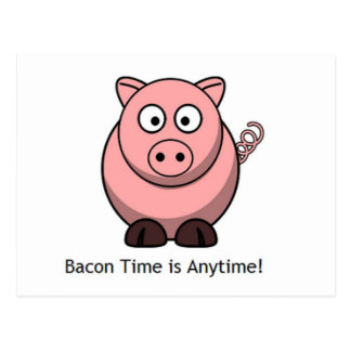 For bacon lovers postcard