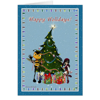 For Beekeeper Christmas Happy Holidays Card