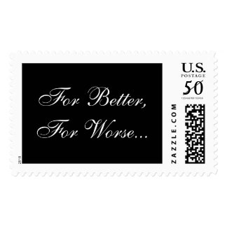 For Better For Worse Wedding Vows Postage