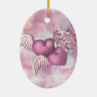 For Better or For Worse Double-Sided Oval Ceramic Christmas Ornament