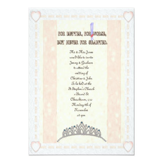 For Better or Worse 5x7 Paper Invitation Card