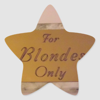 For Blondes Only Sticker