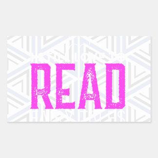For Book Lovers Rectangular Sticker