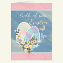 For Both of You - Watercolour Easter Eggs Card