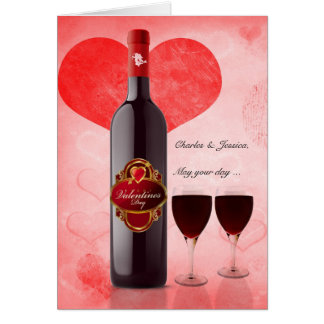 for Both of You Wine Lover's Valentine Card