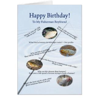 For boyfriend, Fishing jokes birthday card