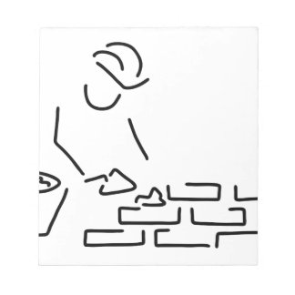 for bricklayer construction worker house-build wal notepad