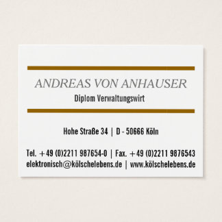 For brokers & real estate experts business card