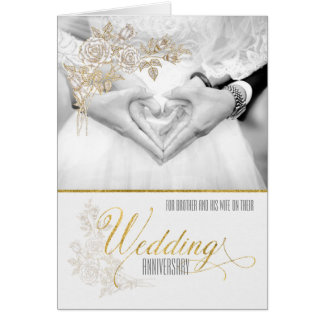 for Brother and His Wife Wedding Anniversary Card