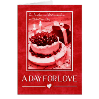 for Brother and Sister-in-Law on Valentine's Day Card