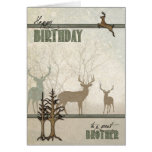 for Brother | Birthday | Deer in the Forest Greeting Card