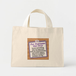 For Business Use Only Mini Tote Bag