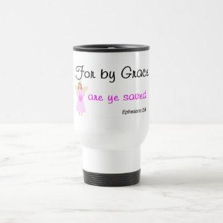 For by grace are ye saved Ephesians 2:8 Travel Mug