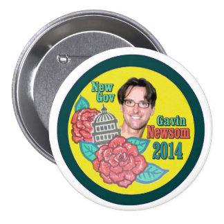 For California Governor in 2014: Gavin Newsom Pinback Button